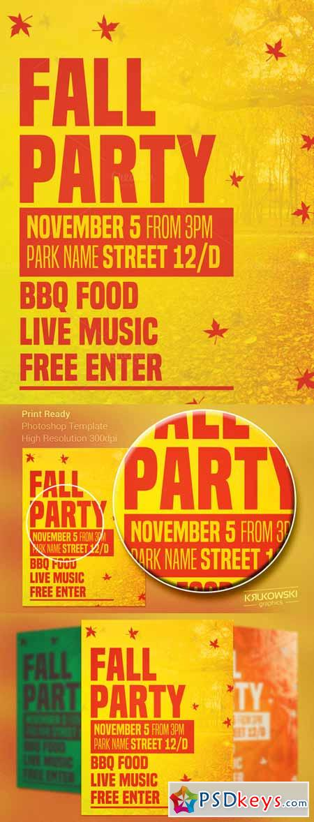 Fall Party Flyer 98544