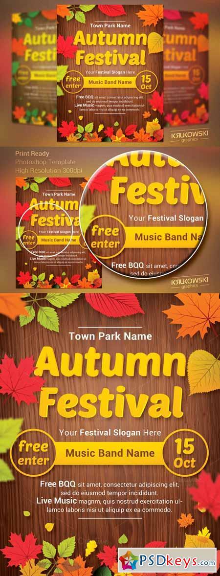 fall festival flyer templates free