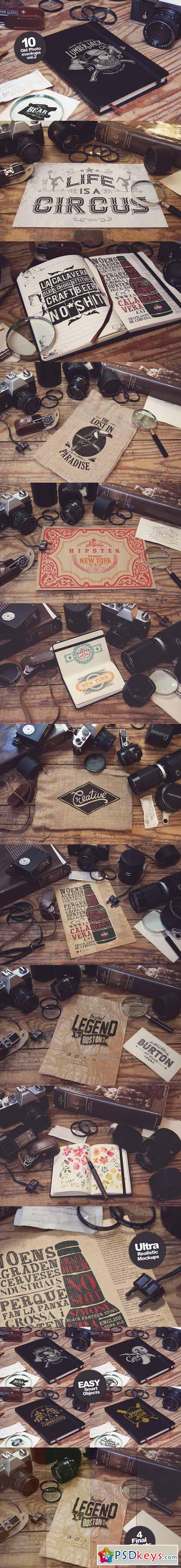 10 Old Photo Mockups vol.2 482386