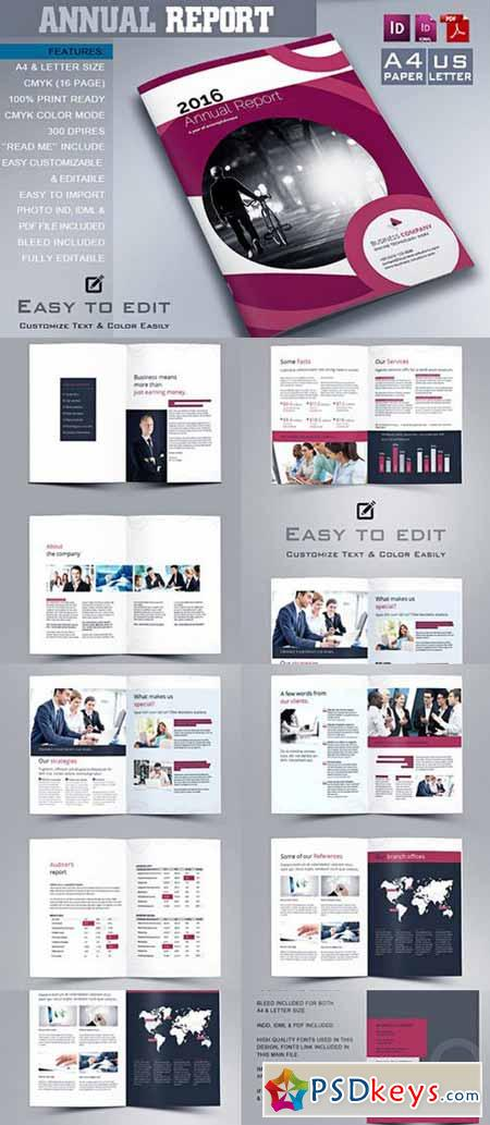 Annual Report Template 479100 » Free Download Photoshop Vector