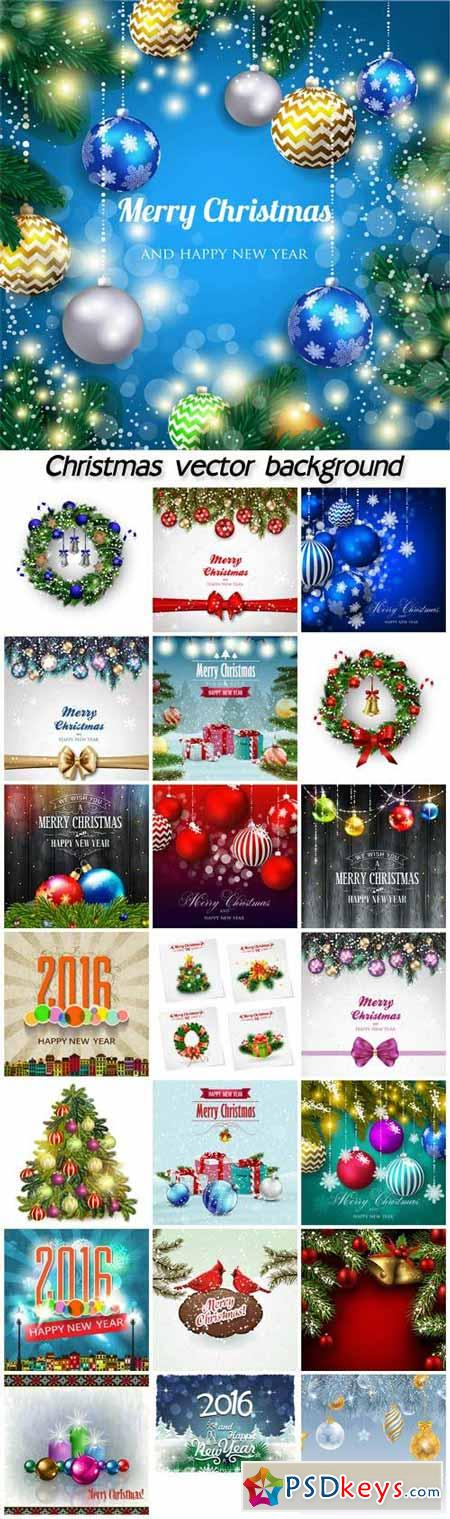 Vector set of Christmas backgrounds