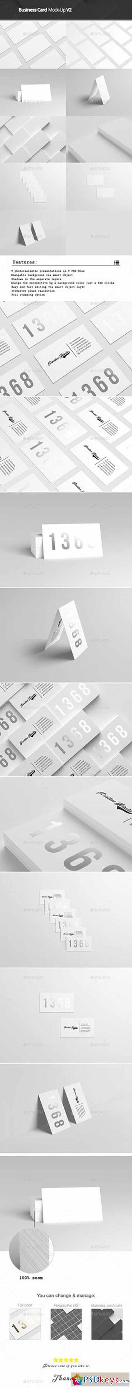 Business Card Mock Up V2 Free Download shop Vector