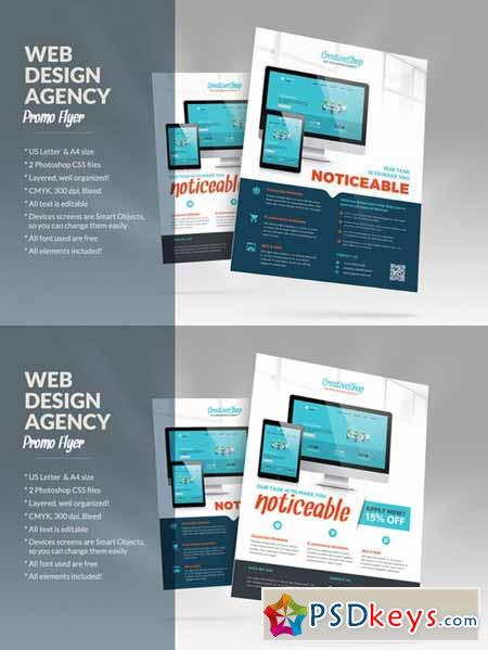 Web Design Agency Flyer 482100 » Free Download Photoshop Vector ...