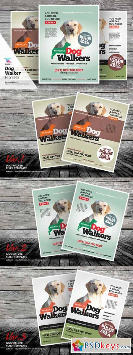 Dog Walker Flyer Templates 480800 » Free Download Photoshop Vector ... Dog Walker Flyer Templates 480800