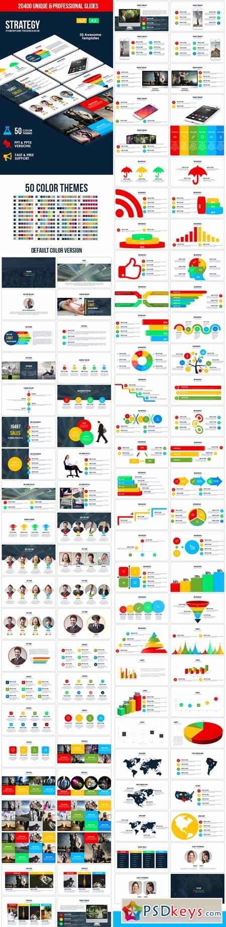 Strategy PowerPoint Template 13591744