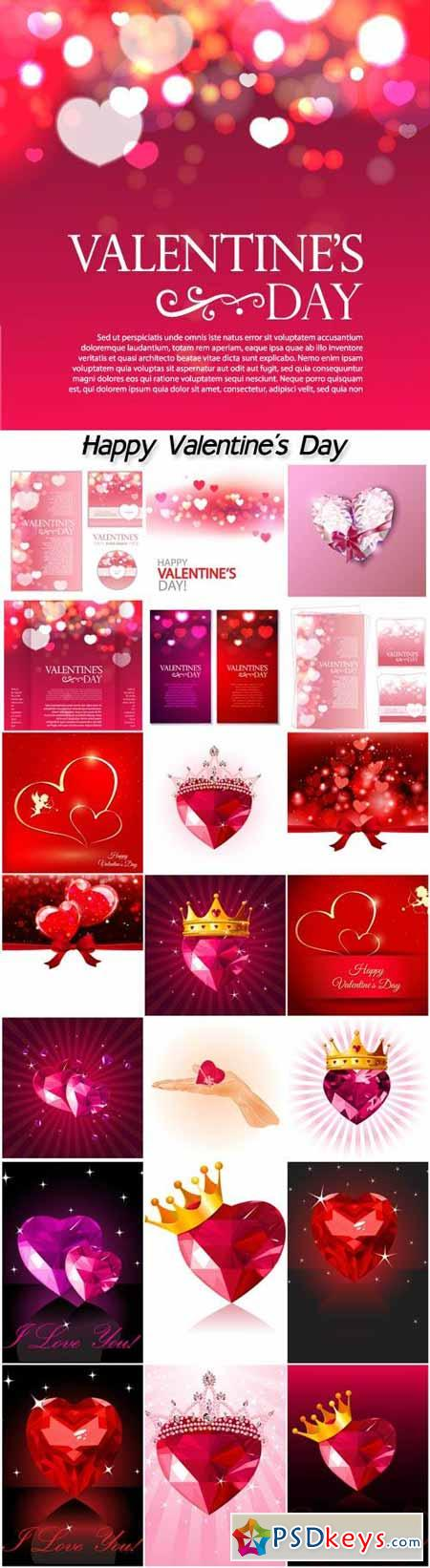 Valentine's Day, cupids, hearts, teddy bears