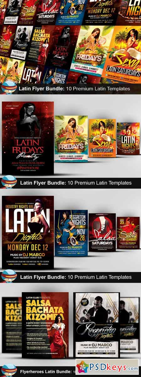 Flyerheroes latin bundle 440318 free download photoshop vector stock image via torrent for Flyerheros