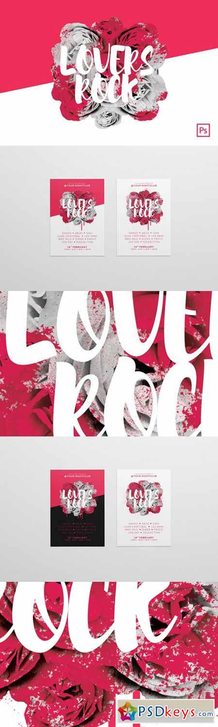 Lovers Rock - A3 Poster Template 482938 » Free Download