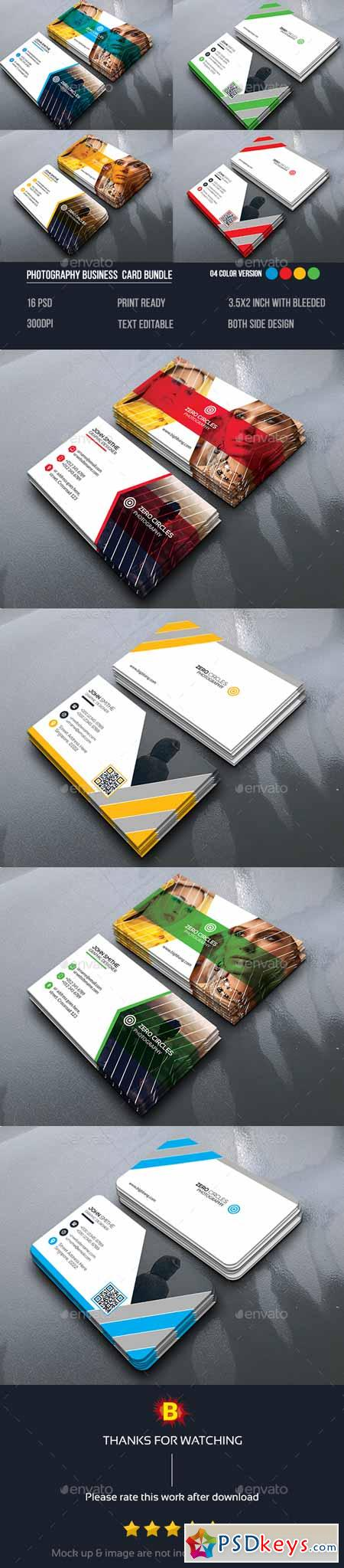 Photography Business Card Bundle 14153049 » Free Download Photoshop ...
