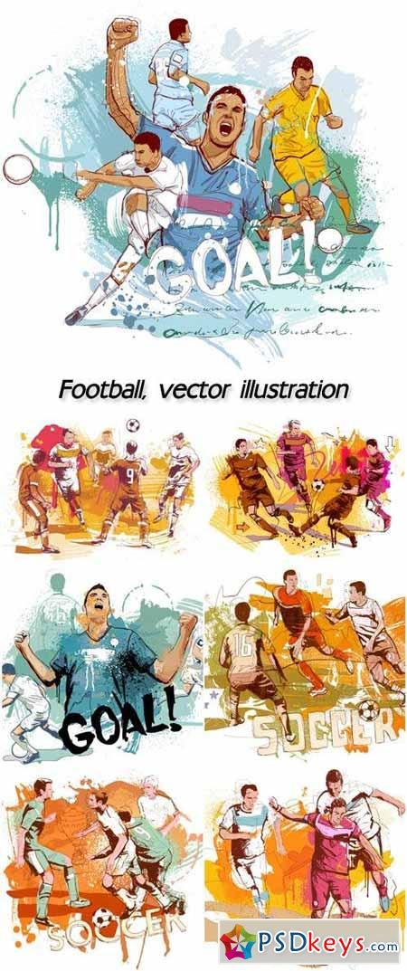 Football, vector illustration