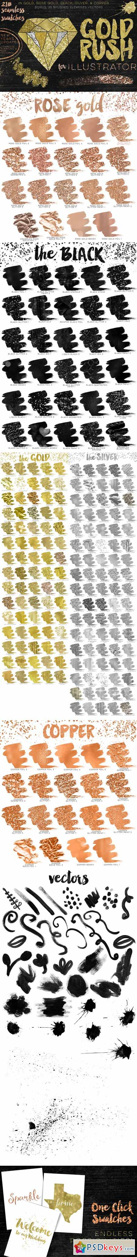 Gold Rush For Illustrator 293364