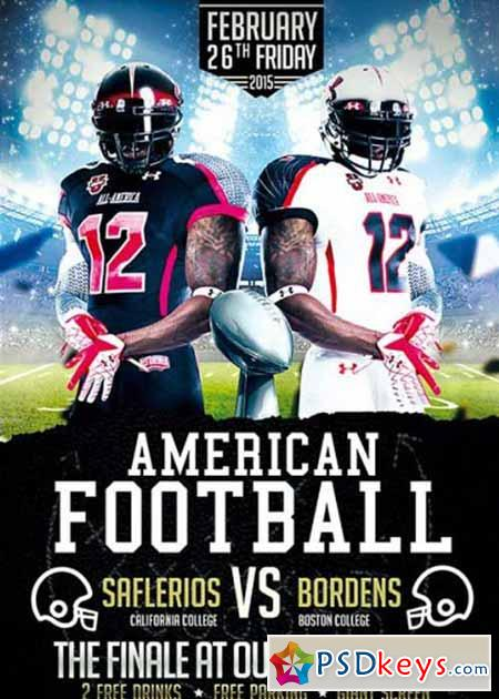 American Football Premium Flyer Template » Free Download Photoshop