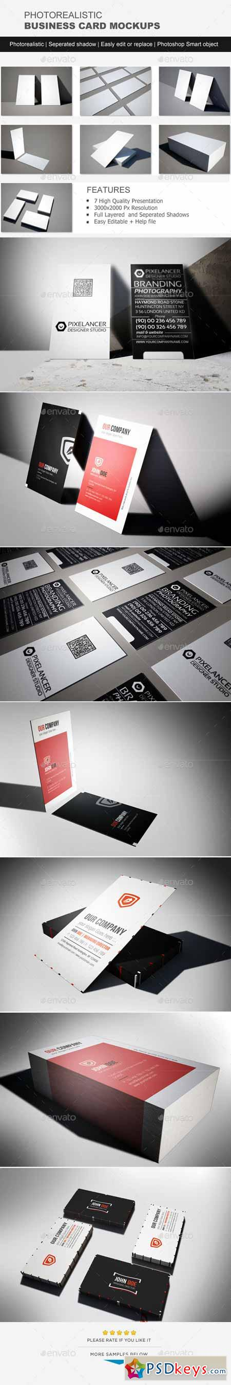 Photorealistic Business Card Mock-Up 11445256