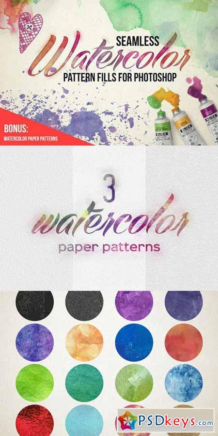 Seamless Watercolor Pattern Fills 312884
