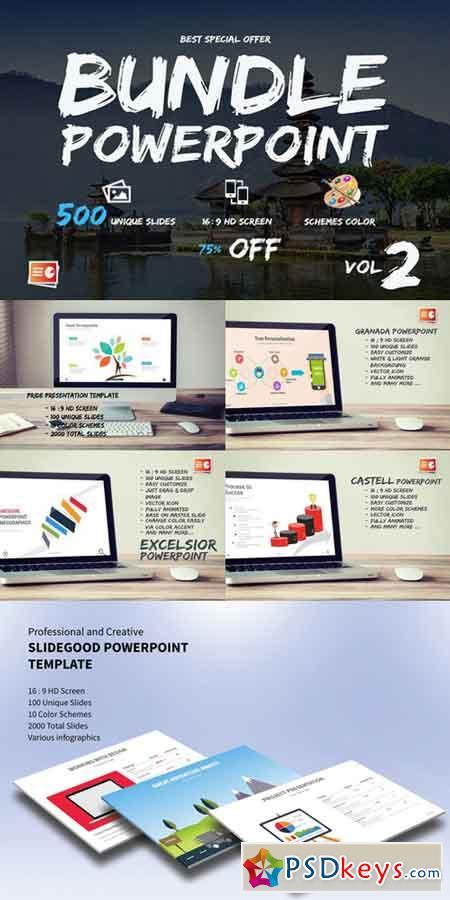 bundle powerpoint vol.02 501951 » free download photoshop vector, Presentation templates