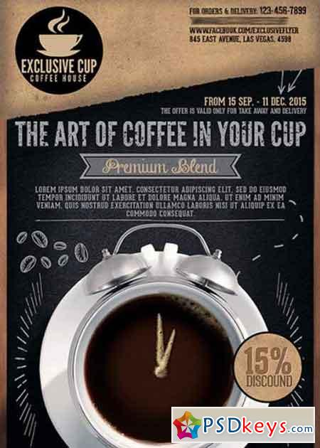 coffee shop premium business flyer psd template  u00bb free