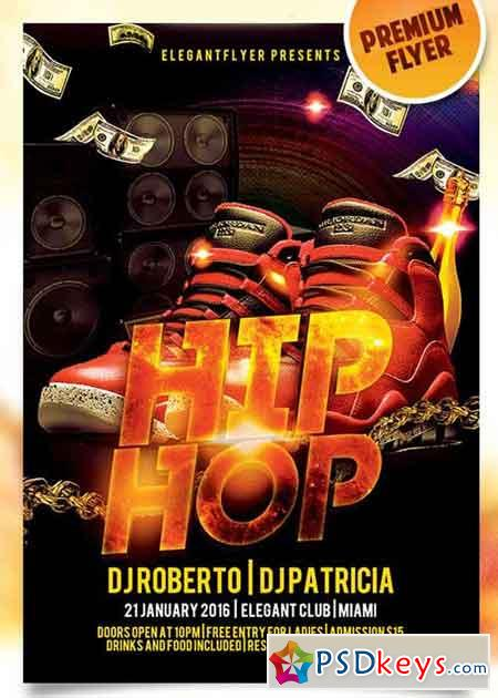 Hip Hop – Flyer Psd Template + Facebook Cover » Free Download