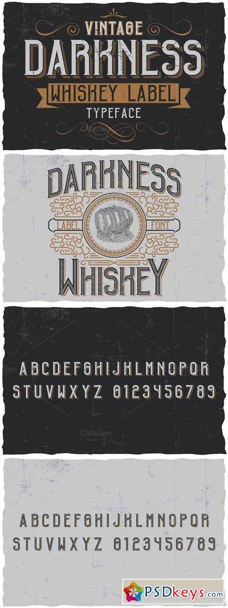 Vintage Darkness Label Font 508122