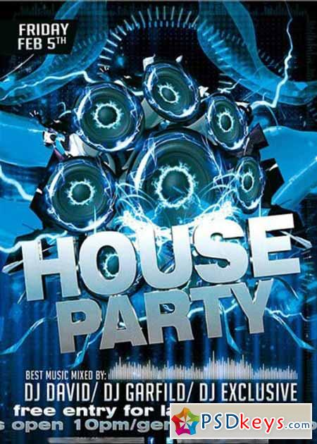 House Party Flyer Template  BesikEightyCo