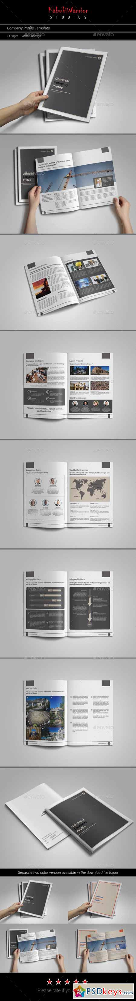 Company Profile Template 11285004 » Free Download Photoshop Vector ...