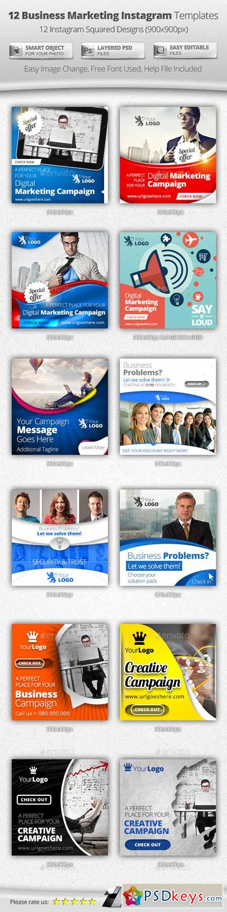 Business Digital Marketing Instagram Templates 11327637 » Free ...