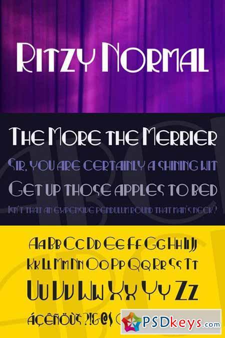 Ritzy Normal Font