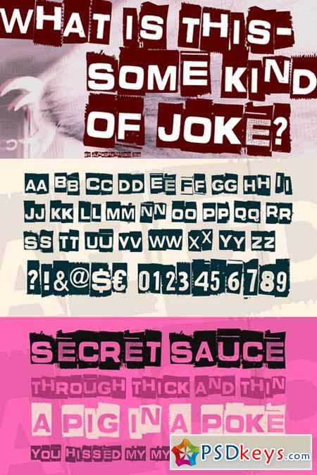 What is this – some kind of joke Font