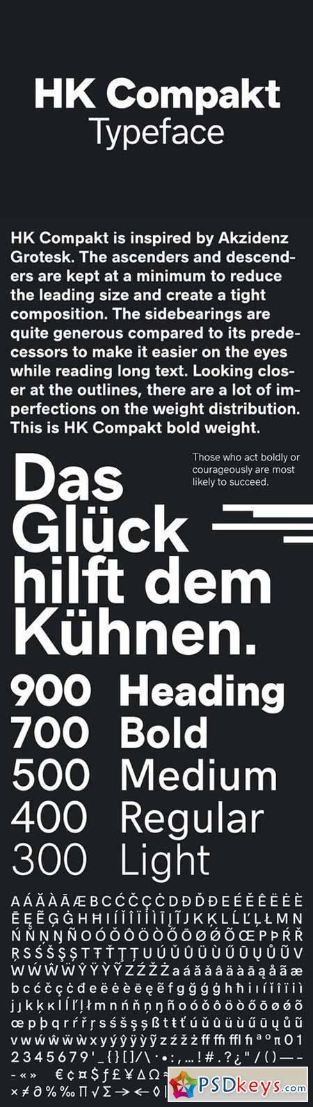 HK Compakt Typeface 492006