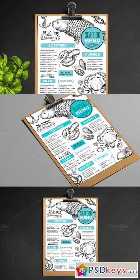 Food menu, restaurant flyer #27 509296