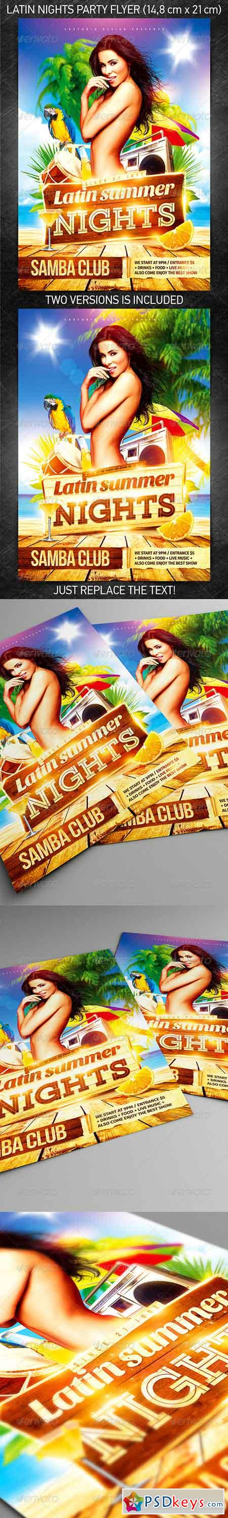 Latin Nights Party Flyer 7820146