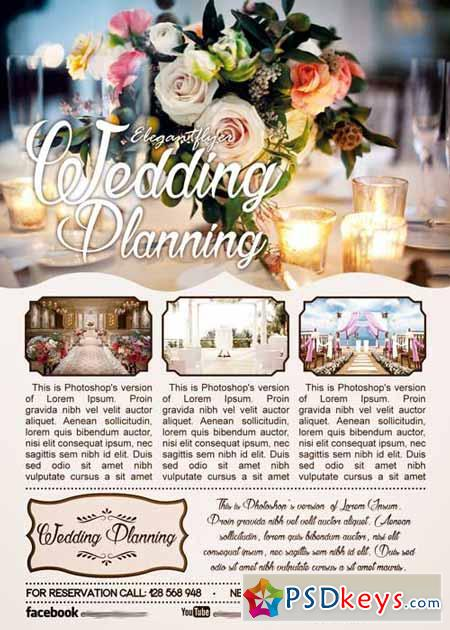 Wedding Planning Flyer Psd Template + Facebook Cover » Free