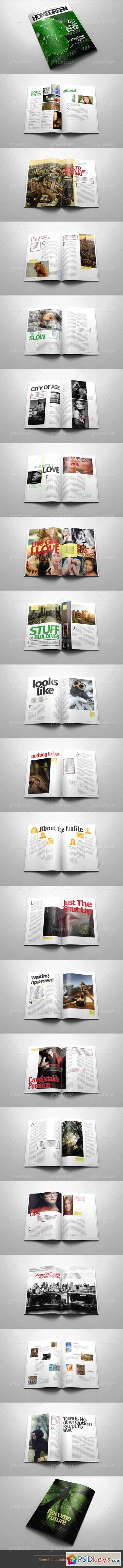 A4 Letter Indesign Magazine Template v.01 3367