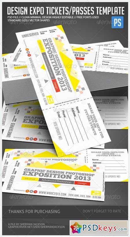 Design Expo Passes Templates V1 4898731
