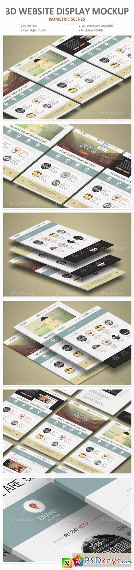 3d Website Display Mockup 2837