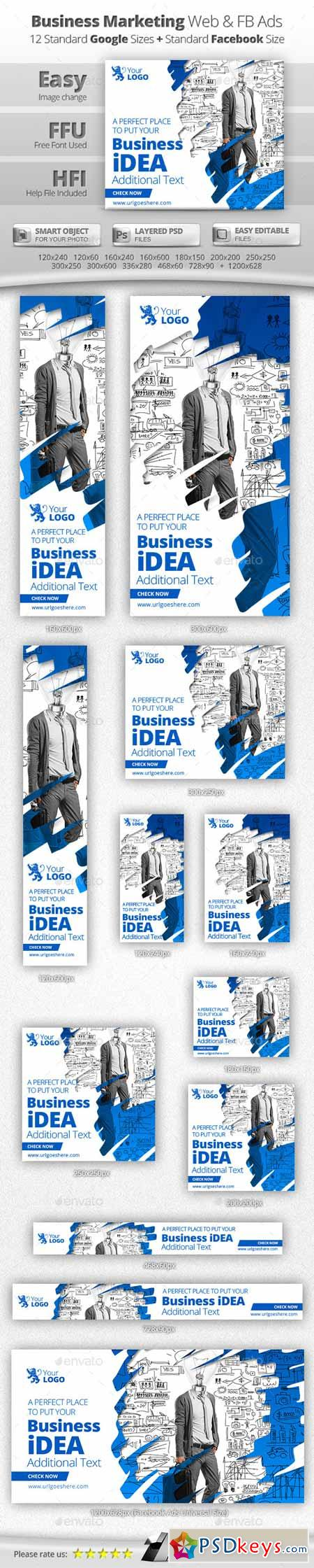 Business Marketing Web & Facebook Banners 11469355