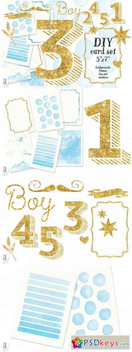 Diy Birthday Card Set Baby Boy 126331 Free Download Photoshop