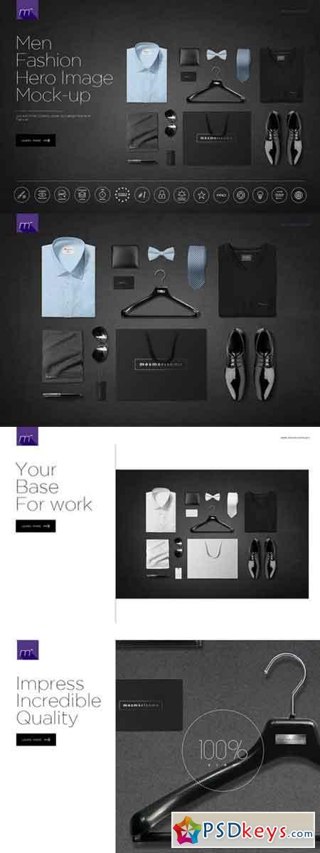 Men Fashion Hero Image Mock-up 517614