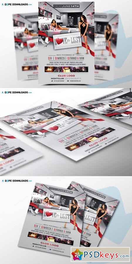 Love Lust Flyer Template 523710