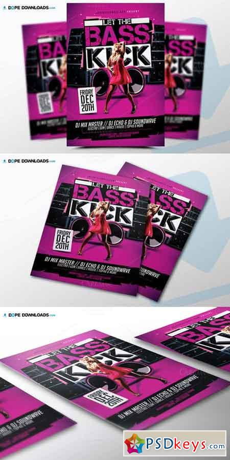 Let The Bass Kick Flyer 523749