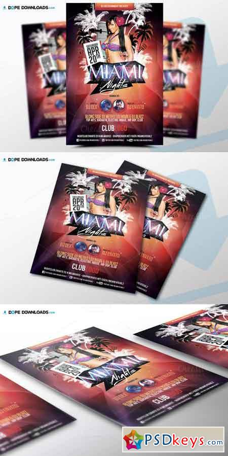Miami Nights Flyer Template 523639