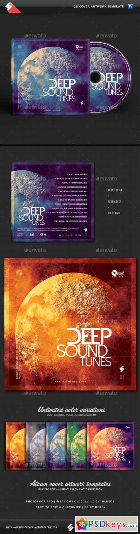 Deep Sound Tunes - CD Cover Template 14490121