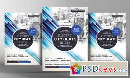City Beat Party Flyer Template   Free Download Photoshop