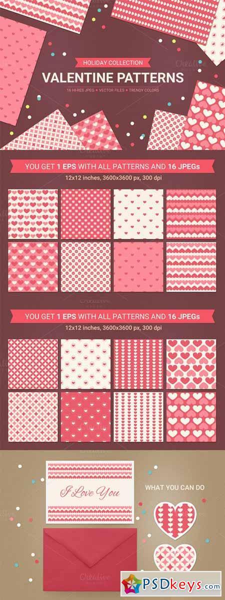 Valentine seamless patterns 144210