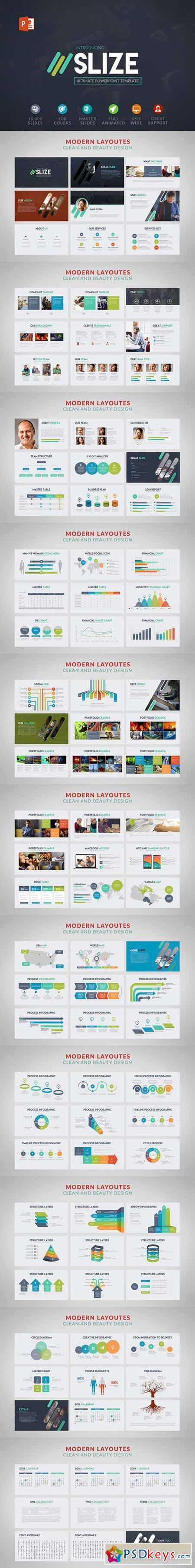 Slize Powerpoint template 530837