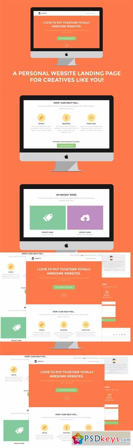 Identity Personal Site Landing Page 241869