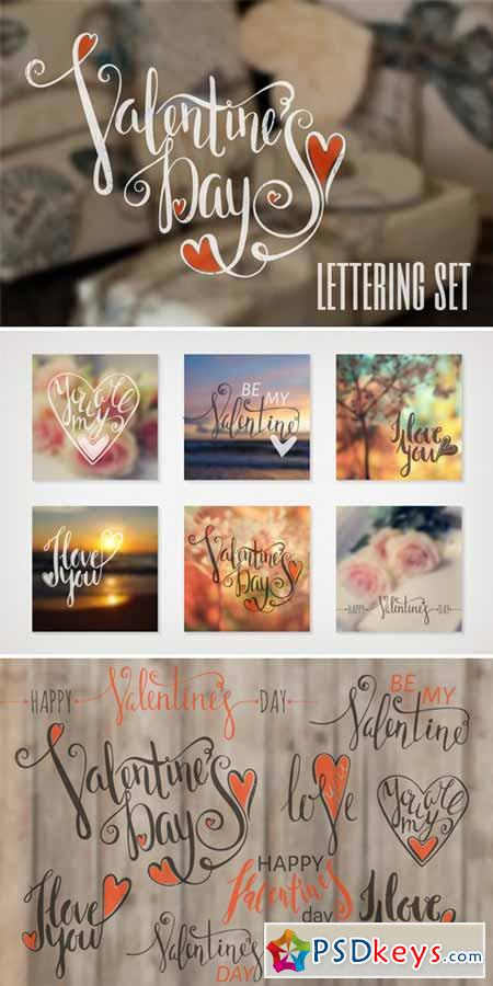Lettering Set for Valentine's Day 513839