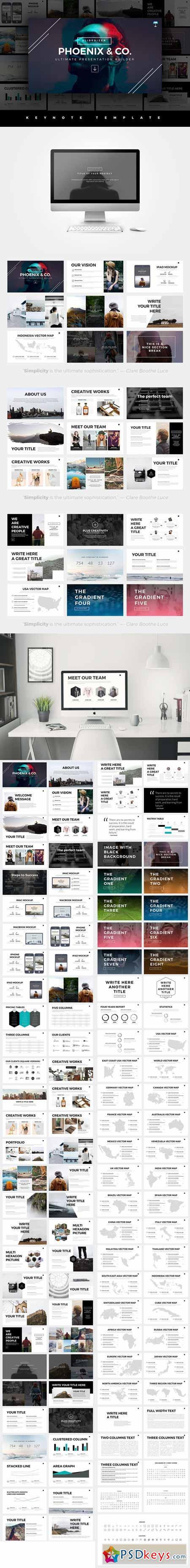 phoenix minimal keynote template 522250 free download photoshop vector stock image via torrent. Black Bedroom Furniture Sets. Home Design Ideas