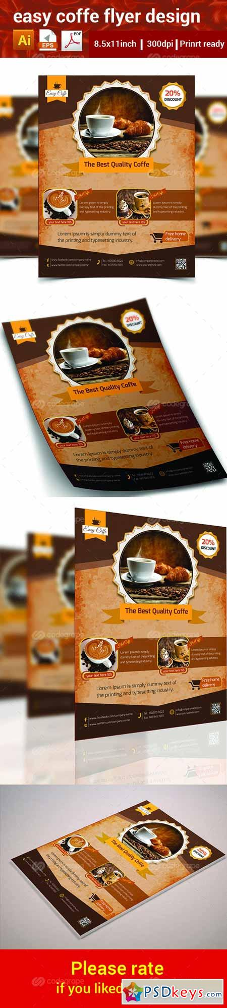 Easy Coffee Flyer 6322