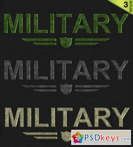 3 Military Camouflage Styles 59112