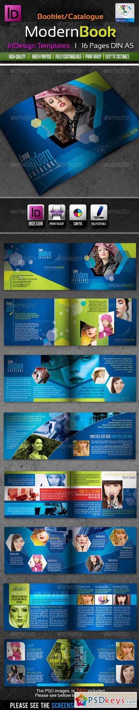 Corporate InDesign Modern Booklet Catalog 16pages 1866935 » Free ...